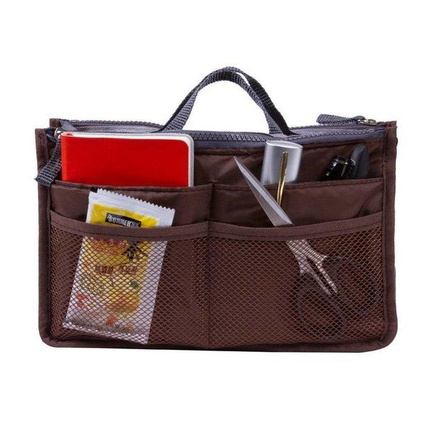 Bag in bag hand tas organizer – Donker bruin