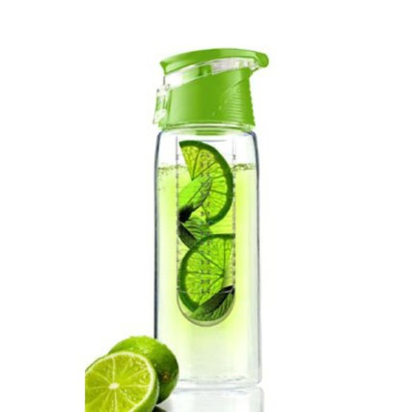 Tritan water infuser fles - Fruit water fles - 0,7 liter - Groen