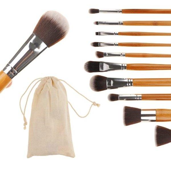 Empaza professionele 10-delige make-up kwasten / brush set - bamboe