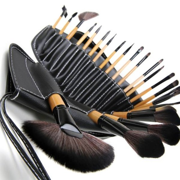 24-delige professionele make-up kwasten / brush set in nette etui