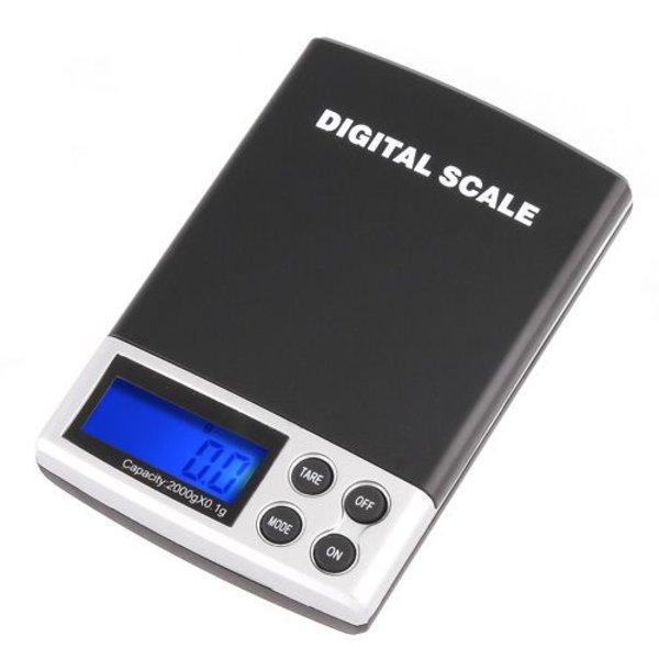 Mini precisie weegschaaltje / keuken weegschaal 0,1 tot 2000 gram