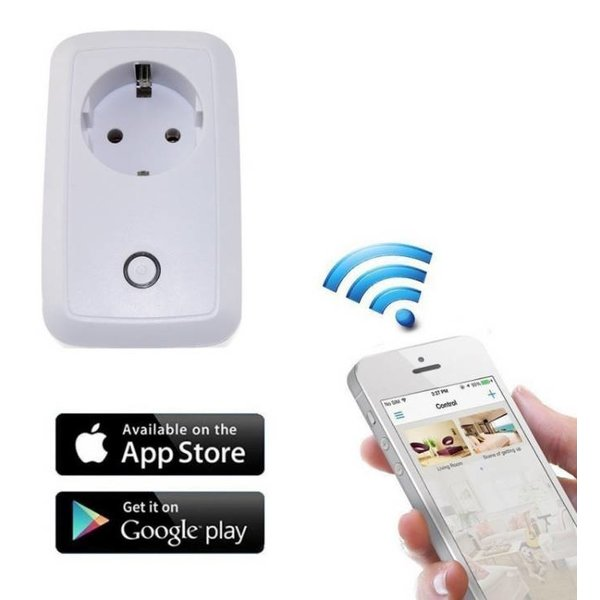 Smart WIFI plug-in stopcontact schakelaar met USB