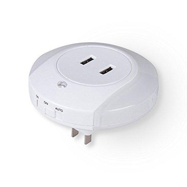 2-in-1 nachtlampje met 2 USB aansluitingen