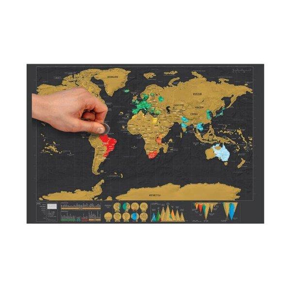 Scratch Map / scratchmap (wereldkraskaart) - ontdek, reis en kras!