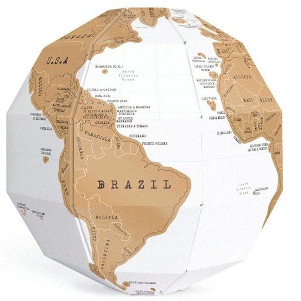 Scratch Map Wereldbol - Onthul een kleurrijke wereld!