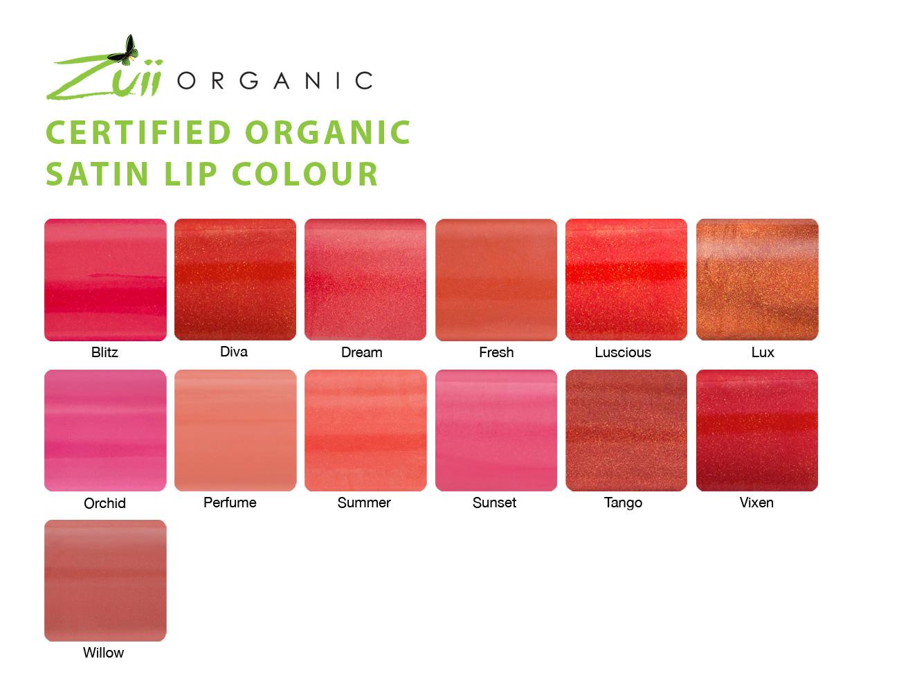 zuii organic satin lipcolour