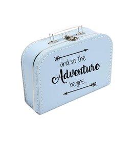 Koffertje blauw 'Adventure'