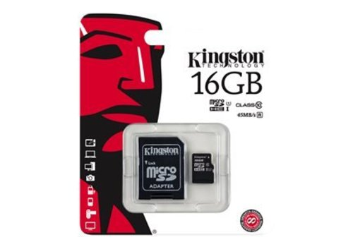 Kingston 16 GB flash geheugenkaart dashcam