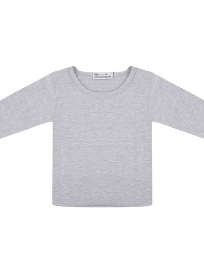 Basic longsleeve tee grey melange