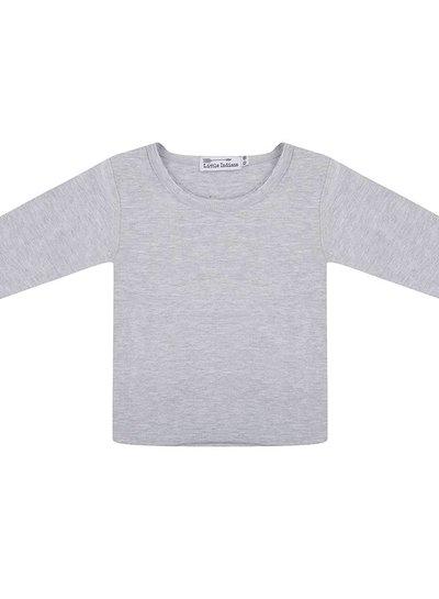 Basic t shirt lange mouwen grey melange