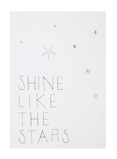 Shine like the stars postcard