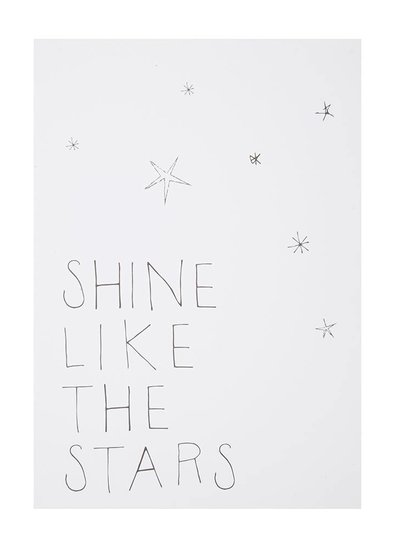 Shine like the stars postkaart