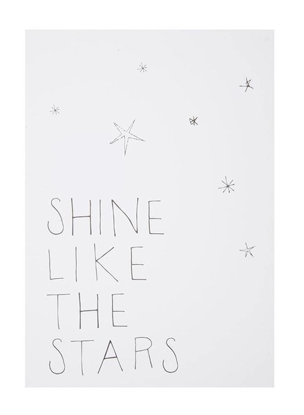 Shine like the stars postkaart