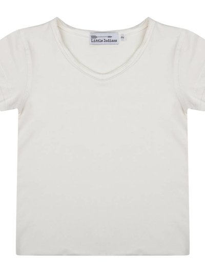 Basic off-white tee ecru V-neck
