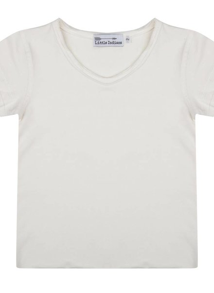 Basic off-white tee ecru V-neck