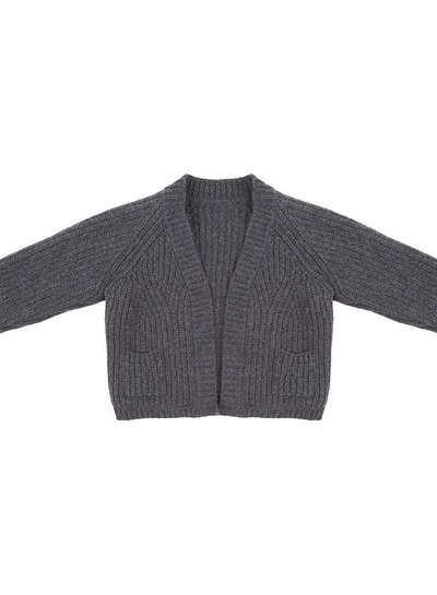 Flow knit Cardigan dark grey