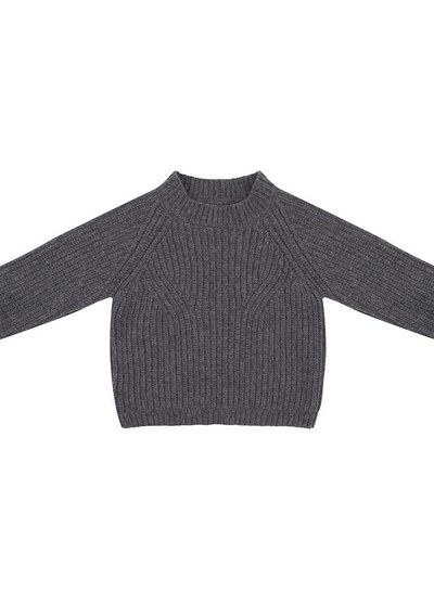 Flow knit sweater dark grey