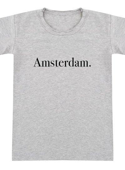 Tshirt Amsterdam grey melange - Universe.