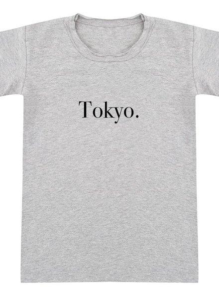 Tshirt Tokyo grey melange - Universe.