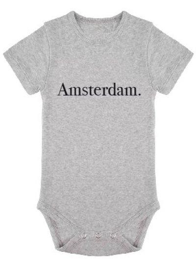 Romper Amsterdam grey melange - Universe.