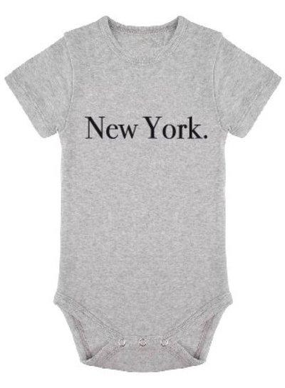 Onesie New York grey melange - Universe.