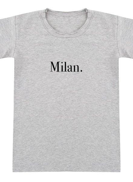 Tshirt Milan grey melange - Universe.