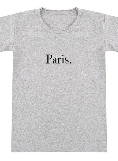 Tshirt Paris grey melange - Universe.