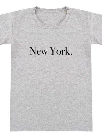 Tshirt New York grey melange - Universe.