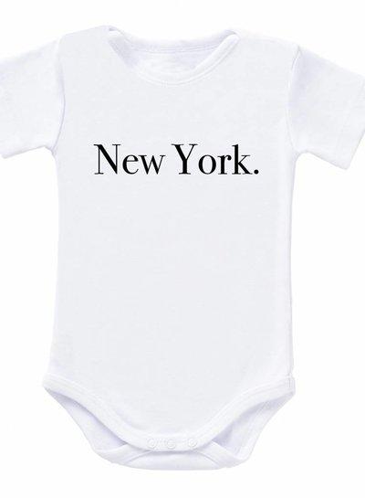 Romper New York white - Universe.