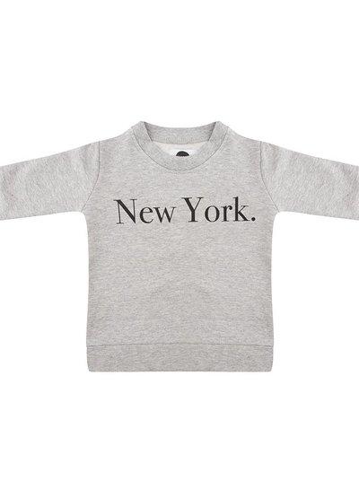 Sweater New York grey melange - Universe.