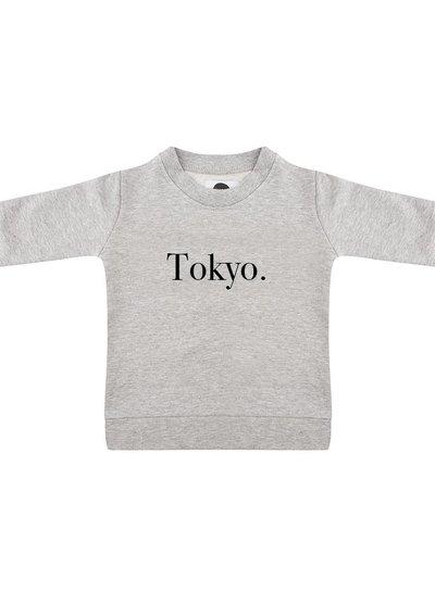 Sweater Tokyo grey melange - Universe.
