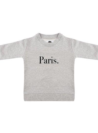 Sweater Paris grey melange - Universe.