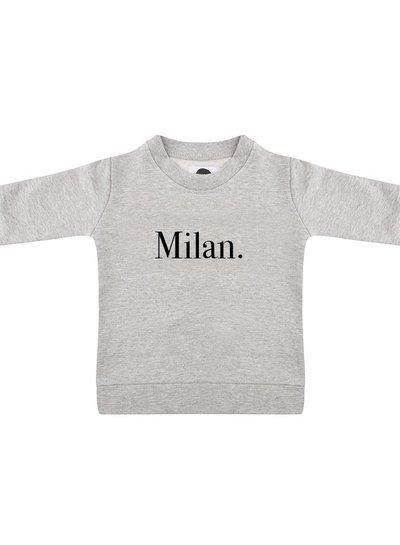 Sweater Milan grey melange - Universe.