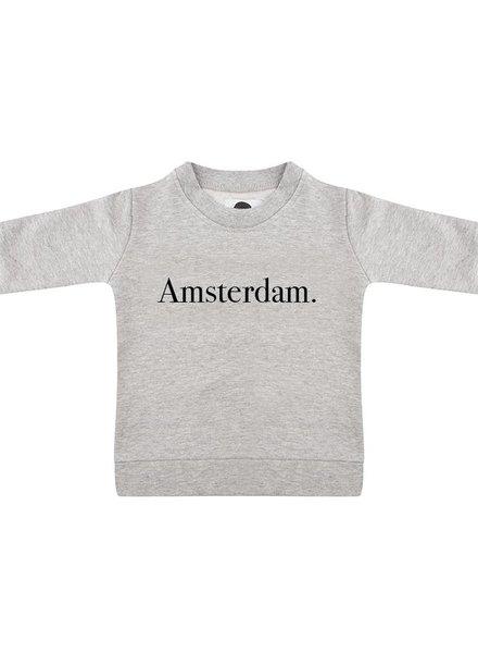 Sweater Amsterdam grey melange - Universe.