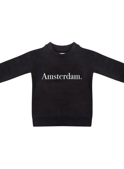 Sweater Amsterdam black - Universe.