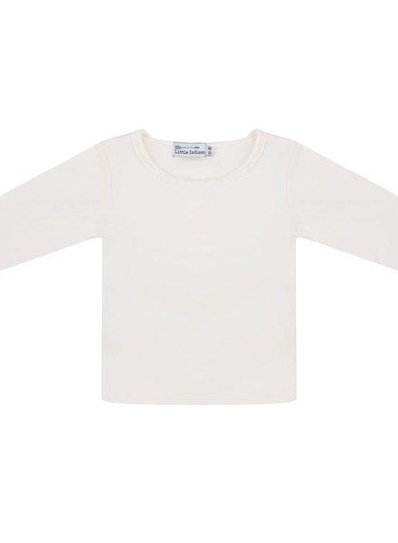 Basic shirt ecru lange mouwen
