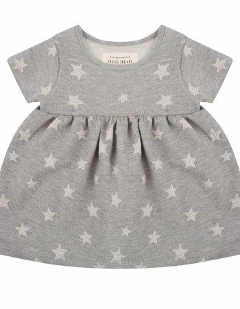 Star jacquard dress - short sleeve