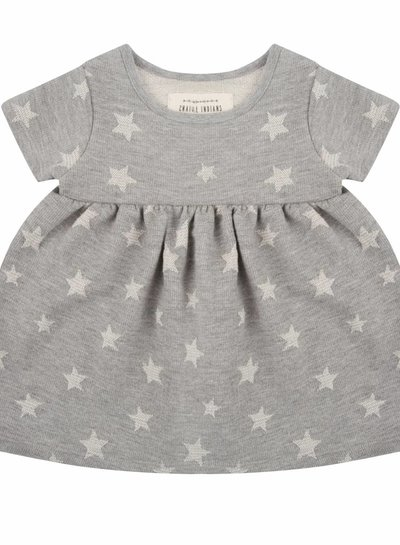 Star jacquard dress - short sleeve