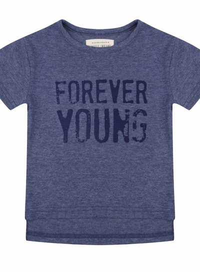 T-shirt Forever young - Blue