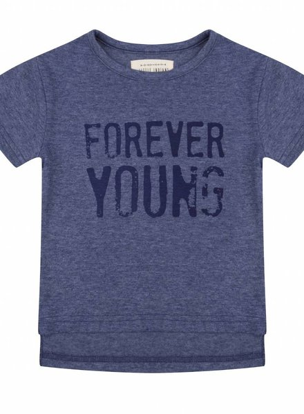 T-shirt Forever young - Blauw