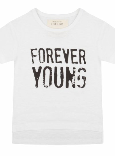 T-shirt Forever young - White