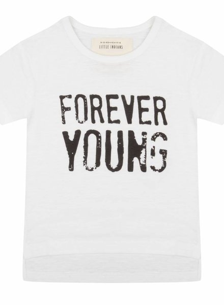 T-shirt Forever young - Wit
