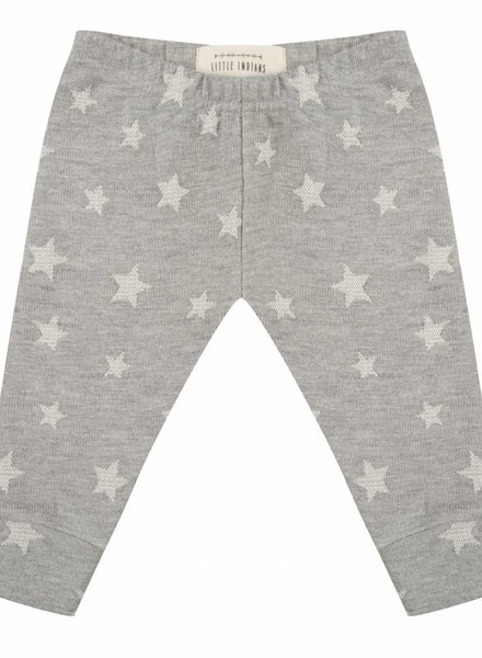 Legging Star jacquard - Grey Melange