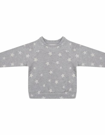 Sweater Star jacquard - Grey Melange