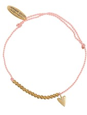 Bracelet small heart brass Adult - Dusty Coral
