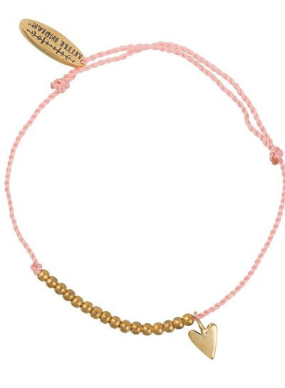 Armband small heart brass Adult - Dusty Coral