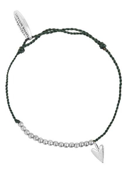 Necklace small heart brass kids - Soft Green