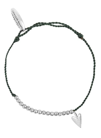 Bracelet small heart brass Adult - Soft Green