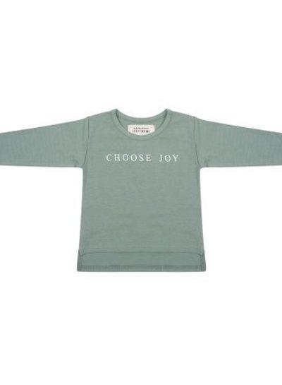 Longsleeve Choose Joy - Soft Green