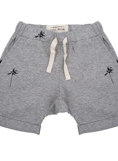Shorts Palmtrees - Grey Melange
